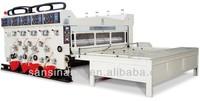 Hot sale SANSIN Professional Multicolor high speed flexo printing and slotting corrugated machine