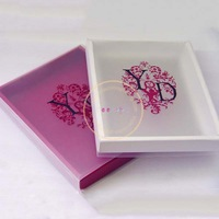 Cardboard gift boxes clear lid