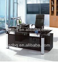 tempered glass office furniture desk computer prices PT-D040