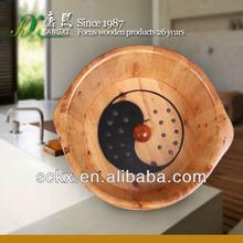 Massage wooden foot basin