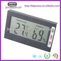 Gm-06 digital wall montado termômetro higrômetro htc- 1, termômetro secretária relógio higrômetro