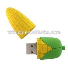 China PVC Corn Pattern USB Flash Disk Corn USB Flash Drive Custom USB Stick