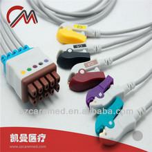 Fukuda Denshi ecg cable 5 lead wire ecg IEC