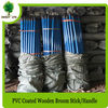 Solid Color PVC coated Wooden Pole for Brooms and Brushes