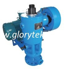 Single screw oil pump