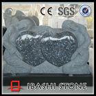 cheap double heart cemetery headstone tombstone, child headstone