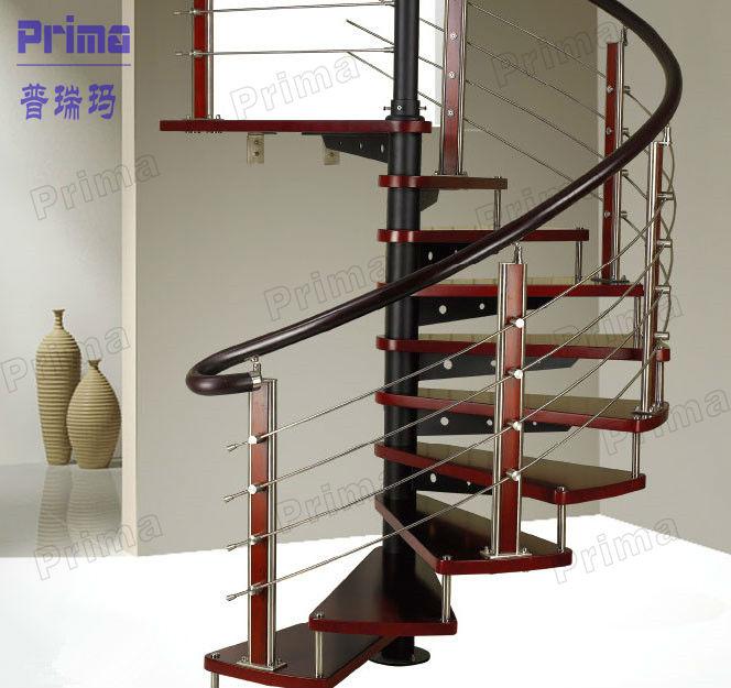 Modern Luxury Spiral Stairs Pvc Handrail Staircase Pr S31