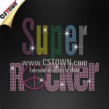 Heat transfer metal studs super rocker custom design for textile