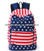 Leisure travel canvas school bag high class student school bag