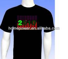 2014 hot sale LED Sound activated EL T-shirt