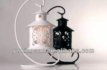 European vintage hollow wedding candle holder wedding decoration iron craft