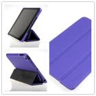 Nice purple foldable stand case for ipad mini ,for ipad mini leather cover .