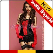 WELLA LINGERIE red sexy fat women corset fantastic female club wear