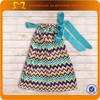 2014New Arrival Baby Frock Design Girl Dresses With Match Headband Chevron Baby Girl Satin Pillowcase Dress