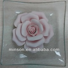 pink ceramic rose aroma flower diffuser with colors customized