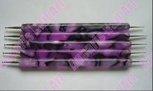 5pcs* 2 Way purple Marbleizing nail art dotting tools,#625278