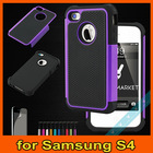 For iPhone 4 4S Black Hybrid Rugged Rubber Matte Hard Case Cover, silicone case