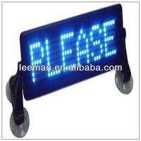 Leeman p3 Remote control/computer USB port mini LED moving message screen taxi car top roof sign