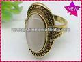 2014 glamour lovelysilver marcasite ampla vestido ring_hemetite anel de marcassita
