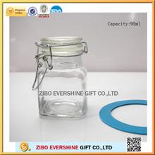 with clip storage jar glass food storage jar with wholesaple price