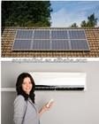 solar air conditioner and water heater 9000-42000BTU solar powered+hybrid