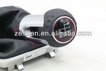 6 Speed OEM VW Genuine Leather Red Line Manual Gear Shift Knob Cover For Volkswagen GOLF 7 VII MK7 5G1 711 113 D
