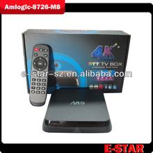 Full HD,3G,8GB rom android 4.4,support wifi,XBMC,Amlogic 802 quad core 2GB ram Mali-450 android M8 tv box