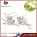 renfook traje joyería de la perla earing mexicano diseños de joyas de plata para el bricolaje