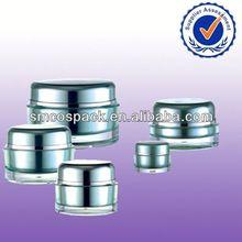2014 unique new wholesale sale acrylic round with step skin plastic jar