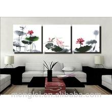 MT3038 lotus 2014 best-selling china painting diy 50*50cm*3