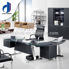 Modern tempered glass office executive table/office manager desk/(F-14)