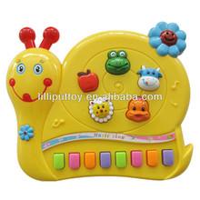 13 Keys Snail Musical Electronic Keyboard Toys