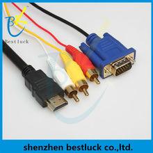 1080p hdmi to vga 3rca converter adapter cable
