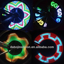 16 LED Lights Motorcycle Cycling Bike Bicycle Tire Wheel Valve Flash Light Wheel Spoke Wire Tyre Bright Colorful 32 patterns