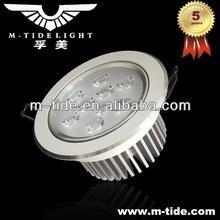 CREE LED White housing high power led 7w downlight