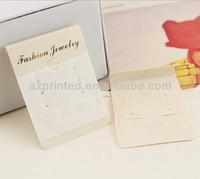 logo gold blocking earring cards custom made&earring cards display&custom printed earring cards