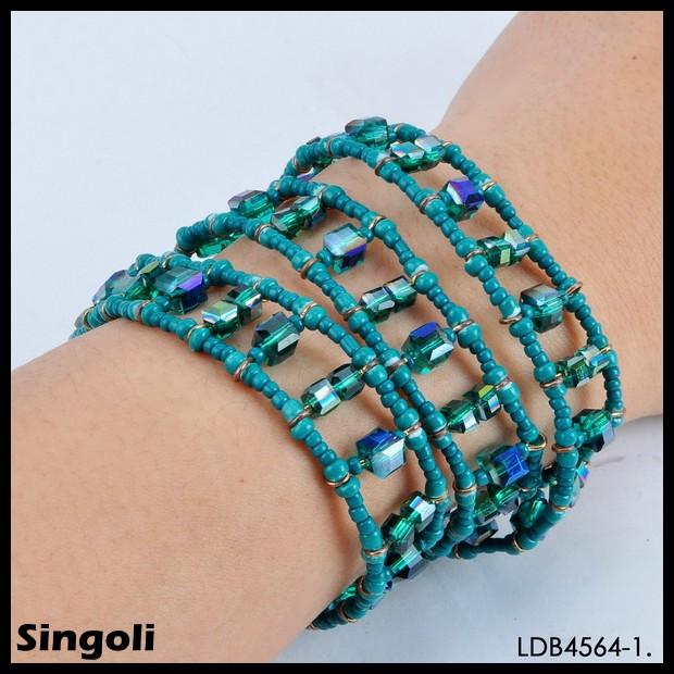 2014 popular beaded bracelets spiritual small bead