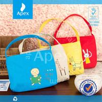 small cosmetic canvas clutch handbag
