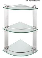 Three layers corner glass shelf,bathroom glass shelf,toilet glass shelf