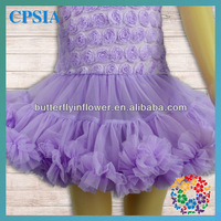 In Stock Lavender Christening Gowns for children Wholesale Baby Smocked Dresses Newest baby dress pictures