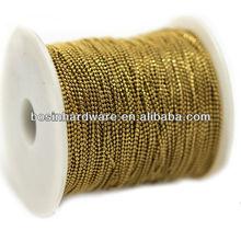 Fashion High Quality Metal Brass Diamond Cutting Ball Chain