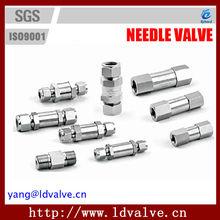 C2 Series 6000PSI Check Valves Stainless Steel Manual Needle Valve
