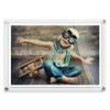 Lovely interesting different sizes acrylic photo frame with magnet for home use