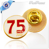 75 Years Souvenir Gold Lapel pins With Hard Enamel
