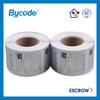 Barcode logo color printing waterproof matt silver PET label