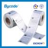 direct sale color printing waterproof matt silver PET label