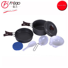 300096 camping cooking pot set,camping pot and pan set,camping cookware set