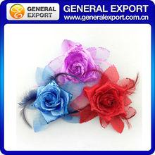 newest chiffon customize pink chiffon brooch fabric flower