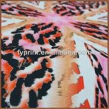 Custom Digital Printed Stretch Silk Satin Material Fabric For Garments