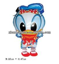 hot sell donald duck boy shape foil mylar walking pet animal balloon
